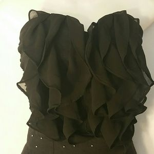 Tops - 2/$10 BLACK BUSTIER STRAPLESS STRETCH SIZE SMALL